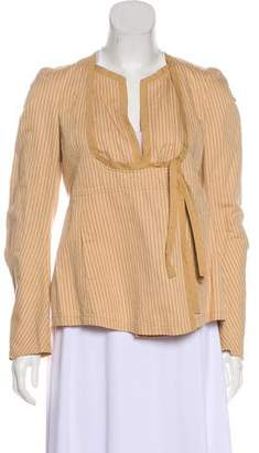 Dries Van Noten Linen-Blend Striped Jacket