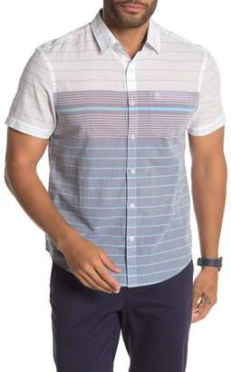 Original Penguin Colorblock Stripe Short Sleeve Shirt