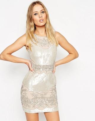 Needle & Thread Iridescent Embellished Mini Dress $359 thestylecure.com