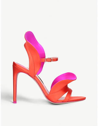 Sophia Webster Lucia ruffle-strap satin heeled sandals