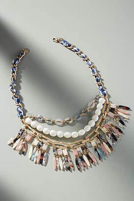 Anthropologie Fringed Bib Necklace