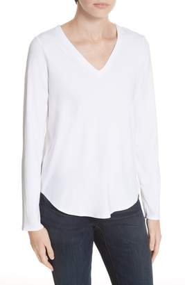 Eileen Fisher V-Neck Jersey Tee