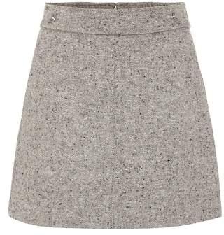Tory Burch Klara wool-blend miniskirt