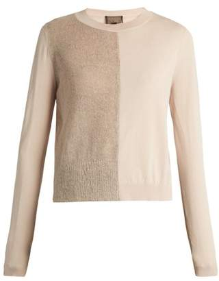 Giambattista Valli Mohair and wool-blend contrast-knit sweater