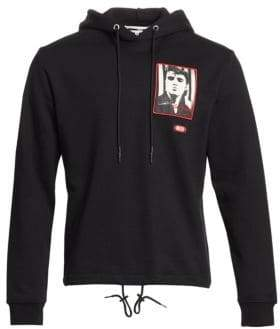 McQ Men's Elvis Presley Hoodie - Darkest Black - Size XL