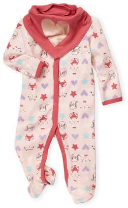 Baby Essentials Chick Pea (Newborn Girls) Two-Piece Fox Sleeper & Bandana Bib Set