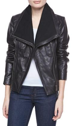 MICHAEL Michael Kors Asymmetric Leather Jacket