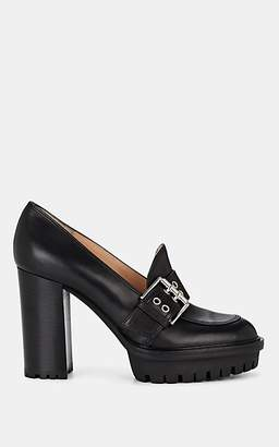 Gianvito Rossi Women's Lewis Buckle-Detailed Leather Pumps - Black