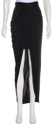 Balmain Drape-Accented Maxi Skirt