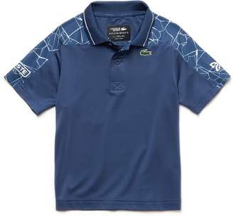 Lacoste Boys' SPORT Stretch Technical Jersey Polo- x Novak Djokovic Off Court Premium Edition