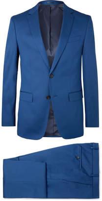 HUGO BOSS Blue Novan/Ben Slim-Fit Stretch-Cotton Suit