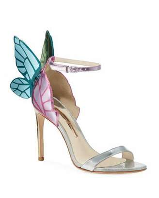 b09e6d83792d Sophia Webster Chiara Butterfly Wing Multi Metallic Leather Sandals
