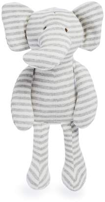 Elegant Baby Striped Knit Elephant Toy - Ages 6 Months+
