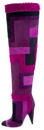 Tom Ford Ponyhair Patchwork Boots