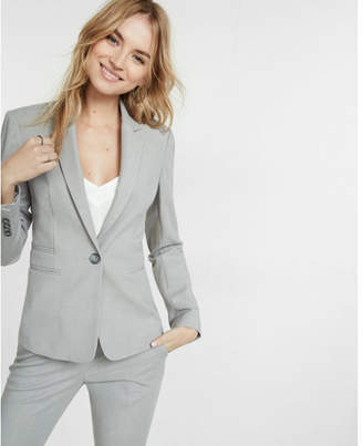 Express light gray one button jacket