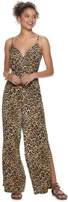 ff2e29853a8a As U Wish Juniors  Animal Print Jumpsuit