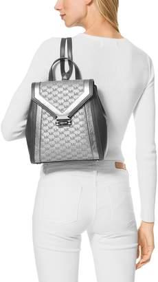 Whitney Metallic Logo Jacquard Backpack