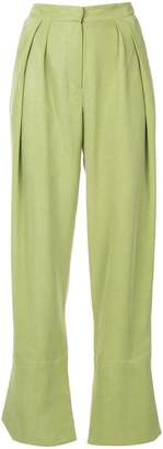 CHRISTOPHER ESBER pleated front wide leg trousers