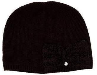 Tartine et Chocolat Girls' Bow-Accented Beanie