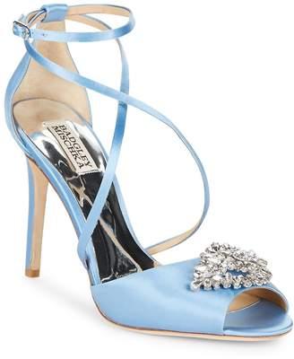 Badgley Mischka Women's Tatum Satin Stiletto Heel Sandals