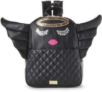 Betsey Johnson Luv Betsey By Black Kitch Angel Quilted Backpack