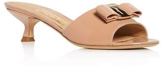 Salvatore Ferragamo Women's Gino Kitten-Heel Slide Sandals