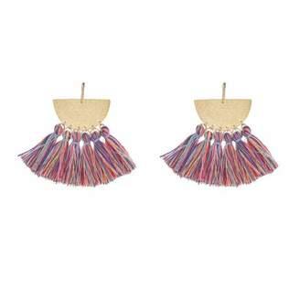 """Flaca Jewelry Drop Tassel Earrings """"Sunrise"""""""