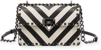 Valentino Rockstud V-Stripes Small Shoulder Bag
