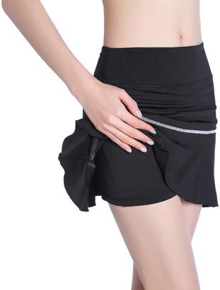 EAST HONG Women's Running Skirt Exercise Golf Tennis Skorts