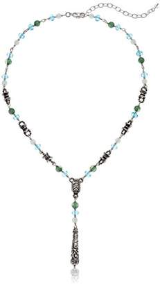 Napier Women's -Colored Y Shaped Beaded Necklace