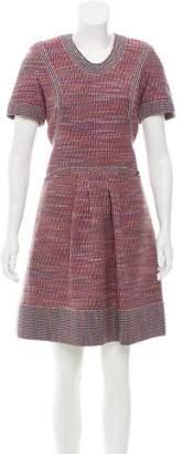Chanel Metallic Tweed Dress