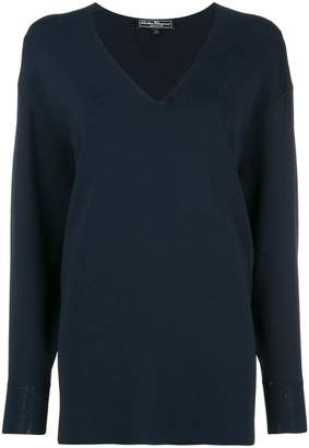 Salvatore Ferragamo slouchy v-neck sweater