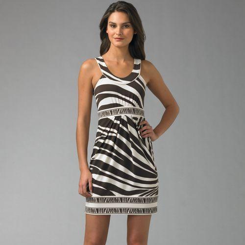BCBGMAXAZRIA Leaning Stripe Mini Dress
