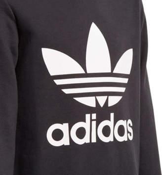 adidas Girls' Trefoil Crew Sweatshirt