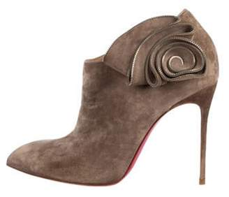 Christian Louboutin Floral Ankle Booties Floral Ankle Booties