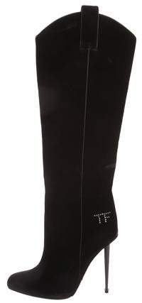 Tom Ford Velvet Knee-High Boots