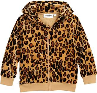 Mini Rodini Leopard Organic Cotton Zip Hoodie