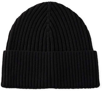 Eton Men's Ribbed Wool Beanie Hat, Black