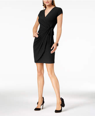 INC International Concepts I.n.c. Petite Faux-Wrap Dress, Created for Macy's