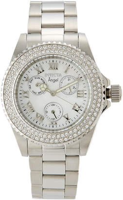 Invicta 17411 Silver-Tone Angel Collection Chronograph Watch