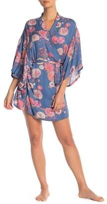 Josie Printed 3/4 Sleeves Robe