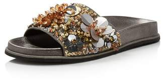 f2985dae002f Kenneth Cole Women s Xenia Sequin-Embellished Pool Slide Sandals