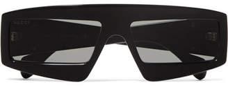 Gucci Oversized D-frame Acetate Sunglasses - Black