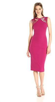 Dress the Population Women's Gwen Cutout Stretch Midi Dress