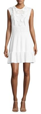 RED ValentinoRED Valentino Appliqued Cotton Knit Dress