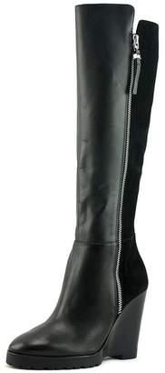 MICHAEL Michael Kors Womens Clara Leather Closed Toe Knee High
