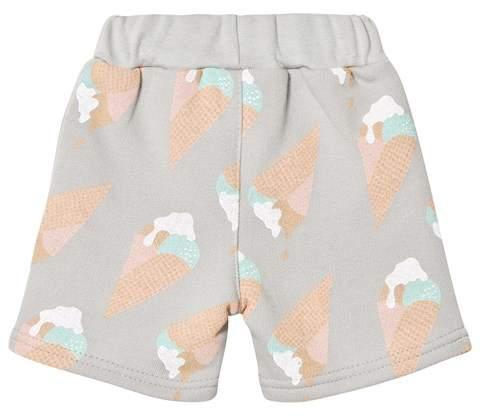 Tobias & The Bear Grey Ice Cream Print Sweat Shorts
