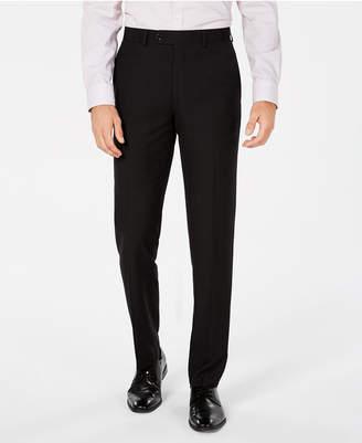 Bar III Men Slim-Fit Black Tonal Plaid Dress Pants