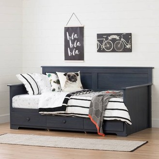 """South Shore Furniture South Shore Summer Breeze Twin Daybed with Storage (39""""), Multiple Finishes"""
