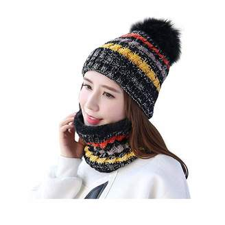 9d45c4dc3ab OPOO Womens Winter Beanie Hat Scarf Set Warm Fuzzy Knit Hat Neck Scarves  Gift Set